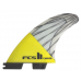 FCS II Carver Medium Performance Core Carbon Yellow Tri Surfboard Fins