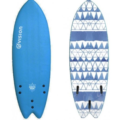 "Vision Ignite 6'2"" Fish XPS Soft Surfboard"