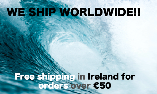 International Shipping Free in Ireland over €50
