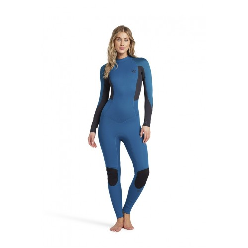 Billabong Launch 3:2mm Wetsuit Women Steamer Pacific Blue