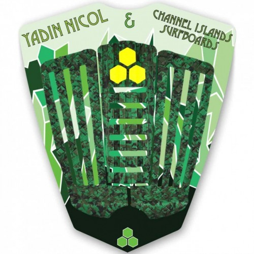 Channel Islands CI Yadin Nicol Grip Camo Green Traction Pad