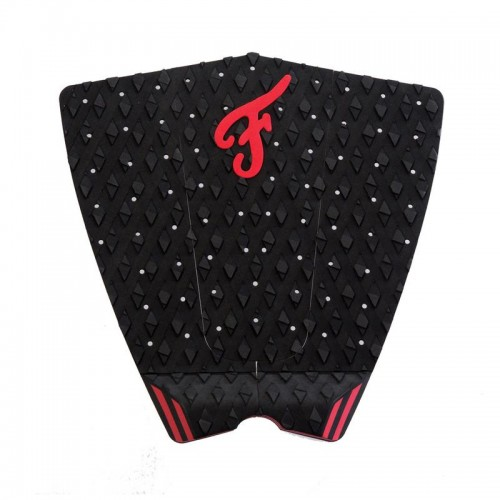 Famous Surf Supply- The Fillmore Red Black Surfboard Traction Pad 3 Piece Deck Grip